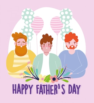 Счастливый день отцов, папы воздушные шары цветы праздник украшения