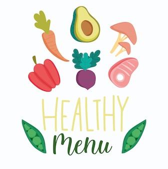 Здоровая пища, шаблон диеты свежего питания