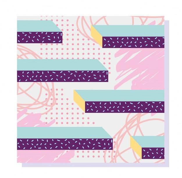 メンフィスモダンな最小限の構成の幾何学的図形の抽象的な背景