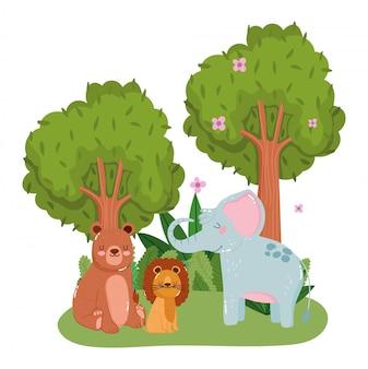 Милые животные в лесу