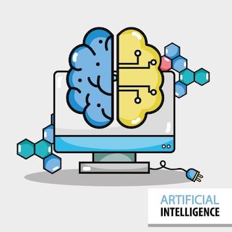 コンピュータ技術を用いた人工脳回路
