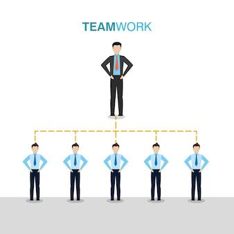 Предприниматели, работающие вместе
