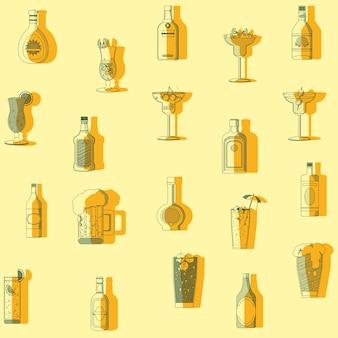バードドリンクパターンの背景コレクション