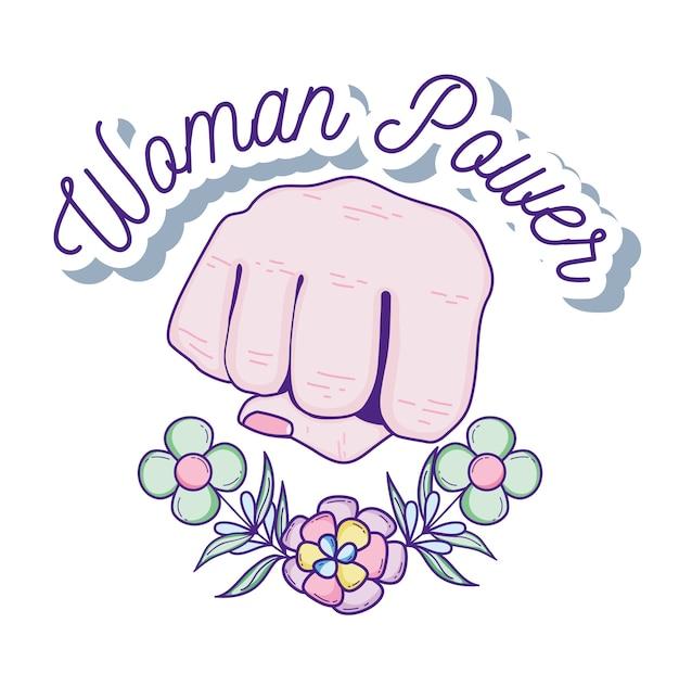 女性の力を手で握ると花の漫画