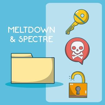 メルトダウンと幽霊の漫画要素