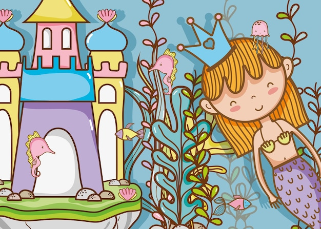 Маленькая русалка арт-мультфильм