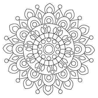 白と丸い装飾的なマンダラ
