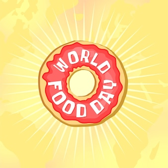 世界の食べ物の日ドーナツ
