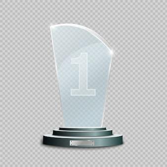 Премия «стеклянный трофей». иллюстрация