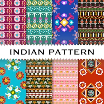インドのパターンの背景