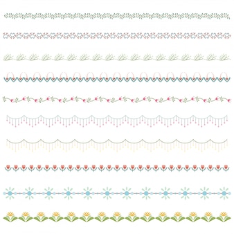 Элемент границы линии и элемент дизайна каракули.