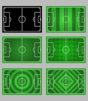 サッカーフィールドパターン要素グラフィック