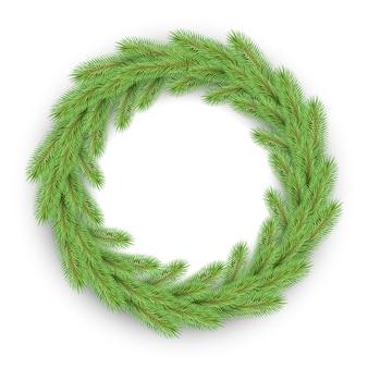 Зеленый рождественский венок
