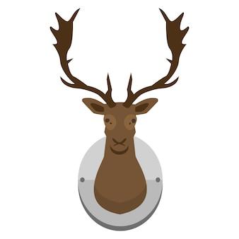 マウントされた鹿の頭