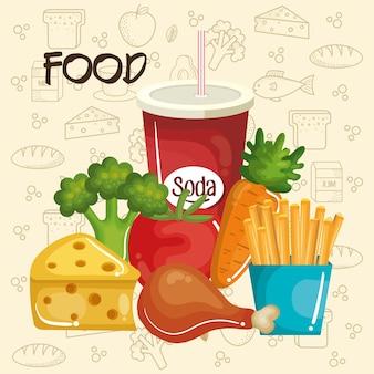 健康で不健康な食べ物