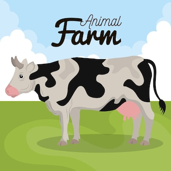 牛の農場のアイコン