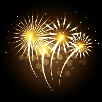 装飾的な花火の爆発のポスター