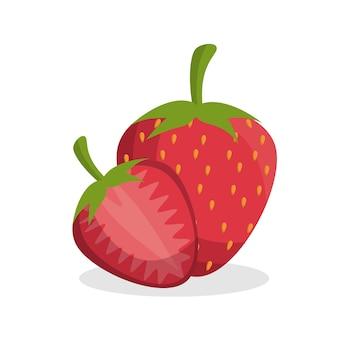 Вкусные свежие фрукты из клубники