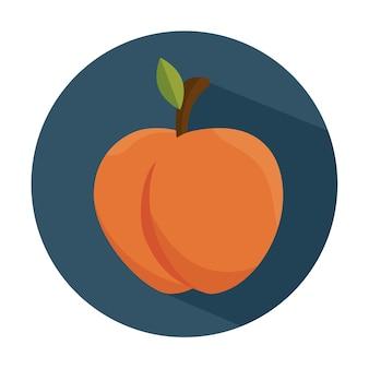Вкусный персик фруктовый здоровый