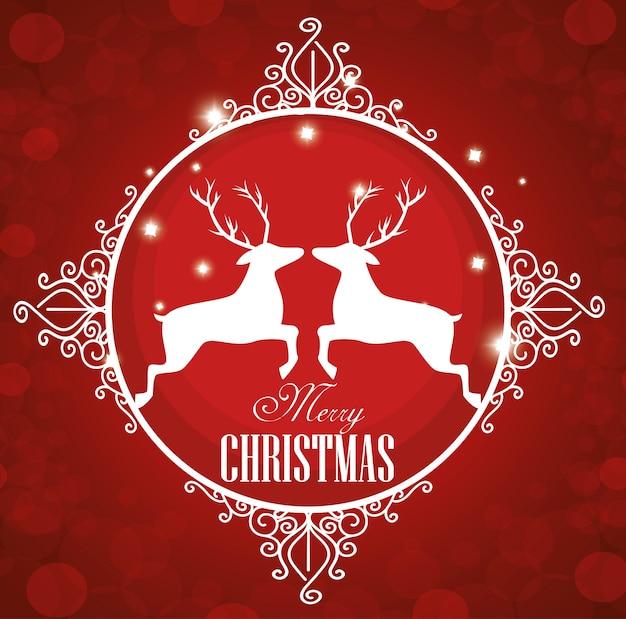 幸せなメリークリスマスのアイコン