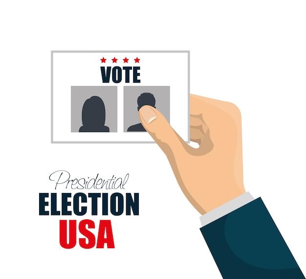 投票の選挙大統領と手