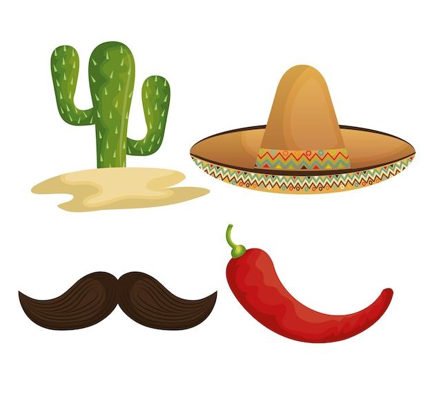 Коллекция значков мексиканская культура