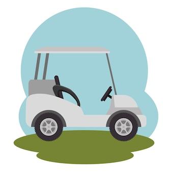 ゴルフクラブスポーツアイコンのベクトル図のデザイン