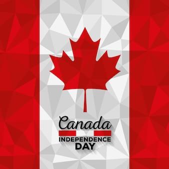 カナダの国旗祝賀日ベクトル図のデザイン
