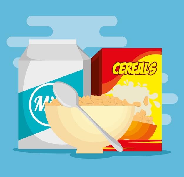 Группа пищевых питательных значков векторной иллюстрации дизайн