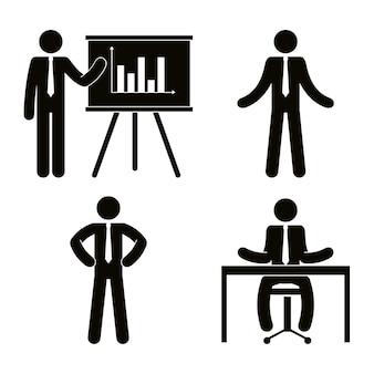 Группа деловых людей с картонной совместной работы