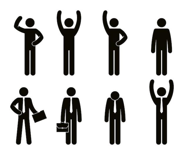 Группа деловых людей совместной работы векторной иллюстрации дизайн