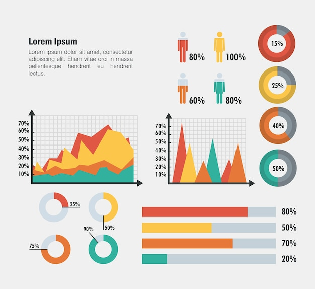 Значки бизнес-инфографики
