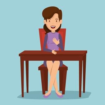 Женщина в столовой