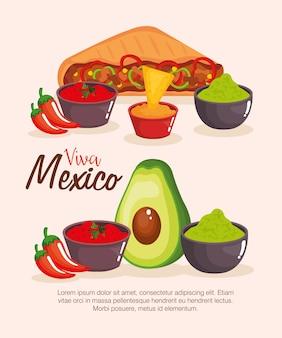 美味しいメキシコ料理のアイコン