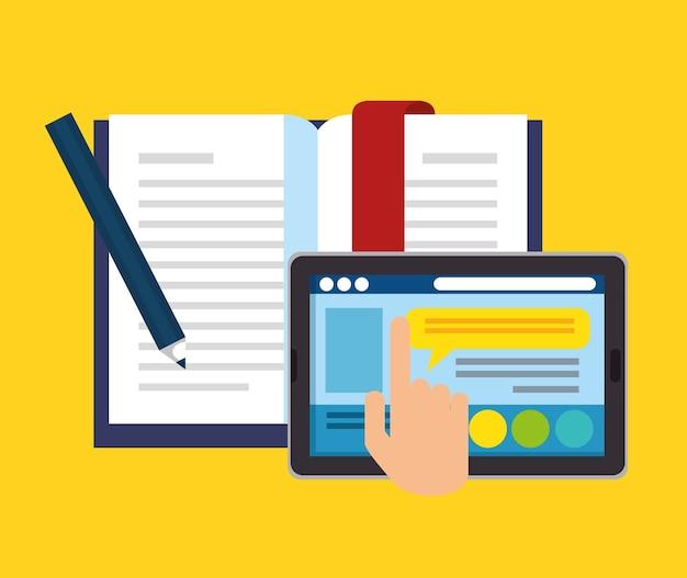 Образование на линии с планшетом