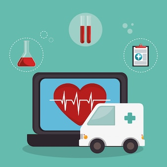 Телемедицина онлайн с ноутбуком