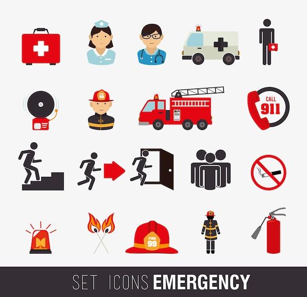 消防士のデザイン