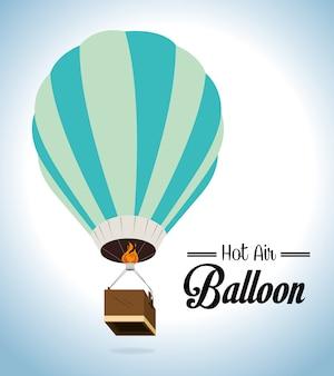 Дизайн воздушного шара на синем фоне