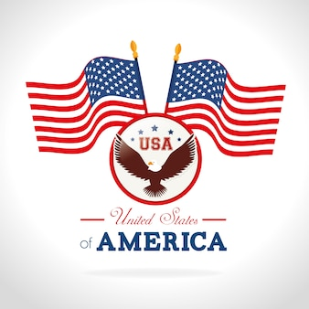 アメリカデザイン、ベクターイラスト。