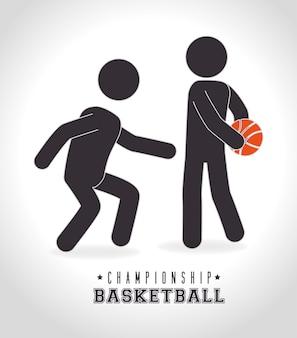バスケットボールのデザイン、ベクトル図。