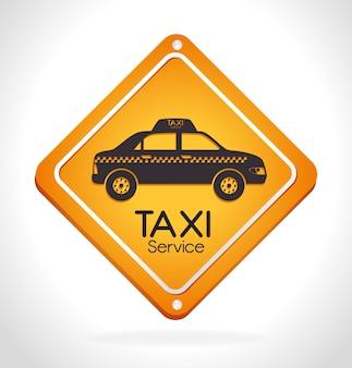タクシーのデザイン、ベクトル図。