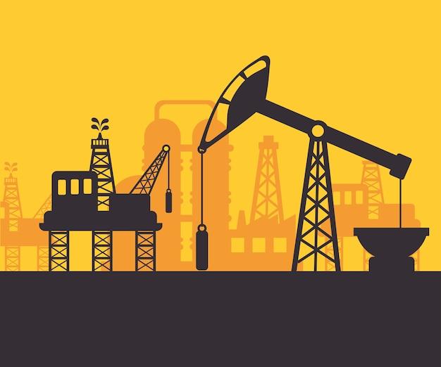 石油のデザイン。