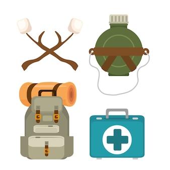 Набор иконок для приключений на открытом воздухе