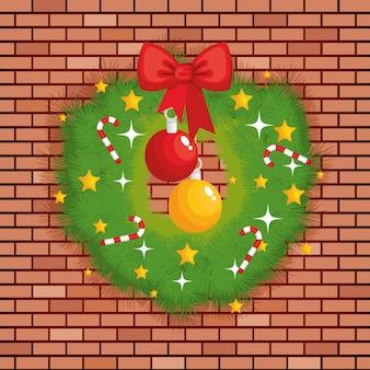 クリスマスガールランド装飾アイコン