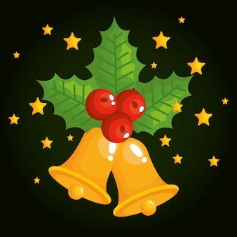 クリスマスベル装飾アイコン