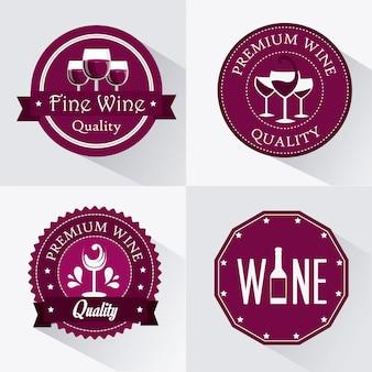 ワインのデザイン。