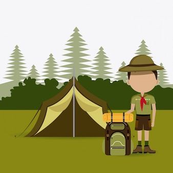 キャンプデザイン。