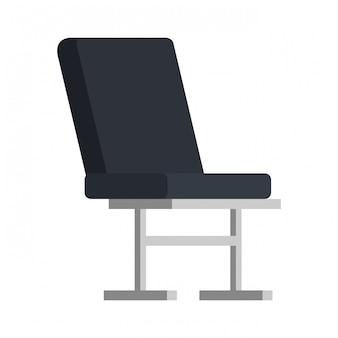 Значок места в кресле аэропорта