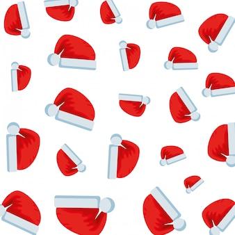 メリークリスマスの帽子のパターン