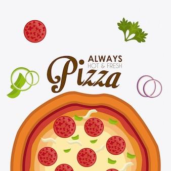 ピザのデザイン。